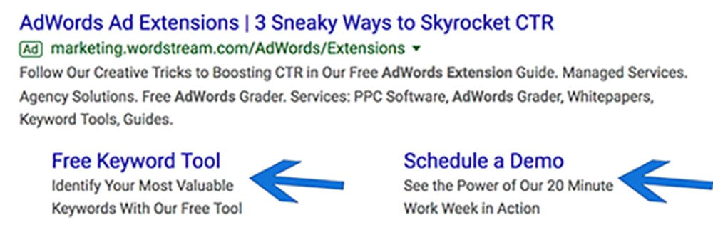 Google AdWord Extension Example