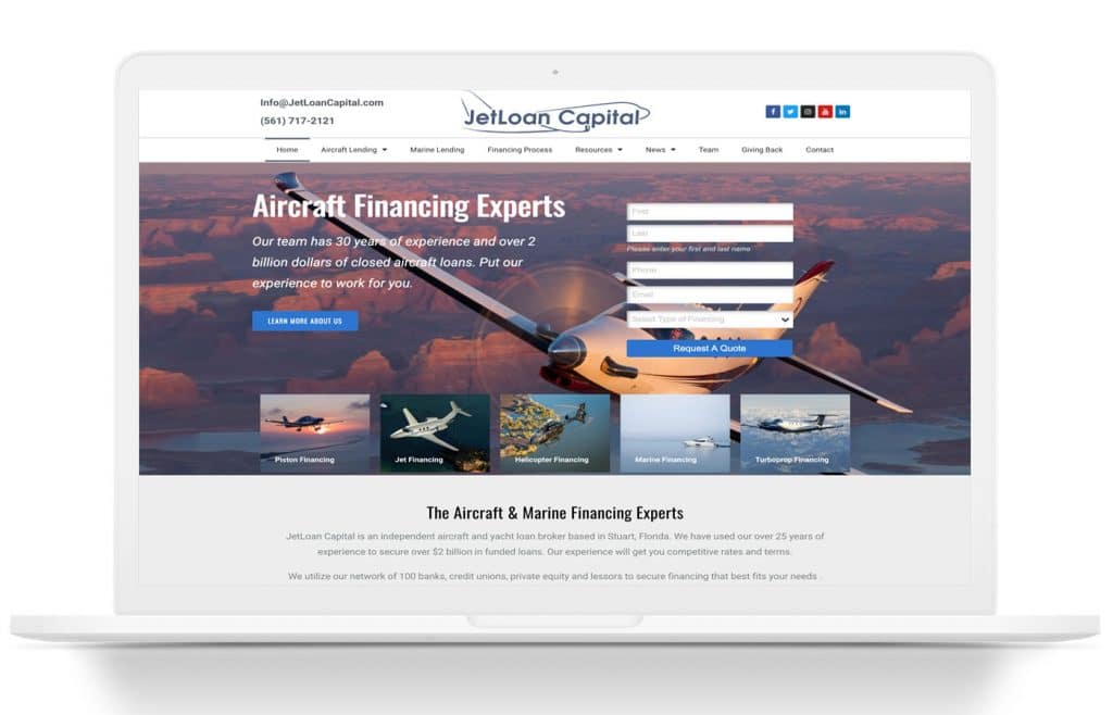 jetloan capital website design