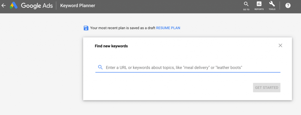 google Ads keyword planner for PPC company