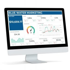 blue water marketing PPC tool dashboard