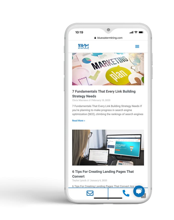 mobile mockup for content marketing