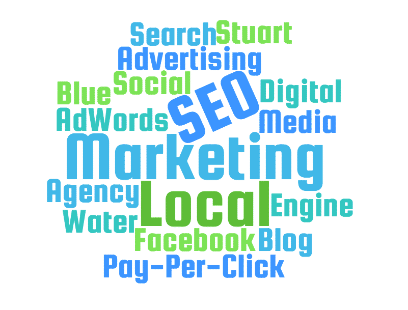 blue water marketing services keywords