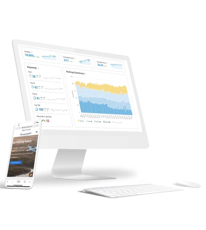 SEO keyword tracker dashboard