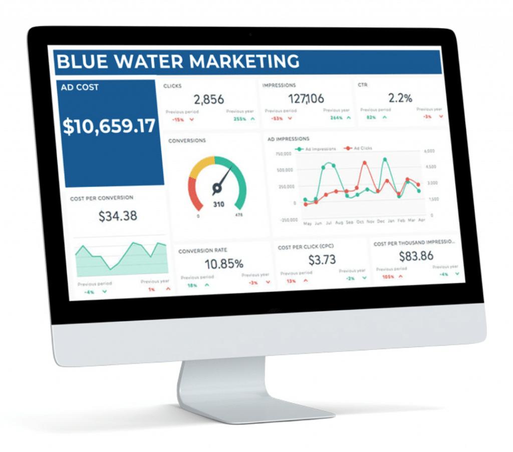 Blue Water Marketing Ads